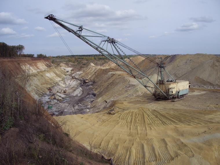 Добыча глины и писка