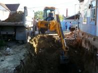Котлован под фундамент дома в Воронеже